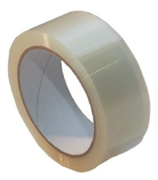 Packaging tape, 38mmx66m, low-noise, transparent
